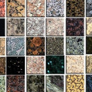 Granite colour chart